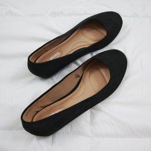 Lane Bryant Basic Black Flats Size 11 Like New